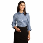 Red House Women's Oxford Shirt: 100% Cotton 3/4-Sleeve Non-Iron Pinpoint (RH45)