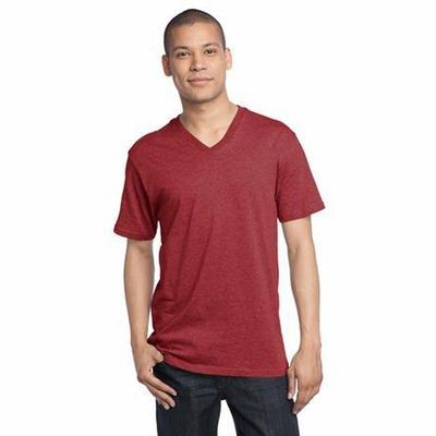 District Threads Men's T-Shirt: 100% Cotton Perfect Weight V-Neck (DT1170)