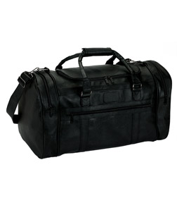 Gemline Travel Bag: Large Executive Simulated Leather (4705)