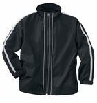 North End Youth Jacket: Contrast Stripe Full-Zip Activewear (68005)