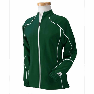 Russell Athletic Women�s Jacket: 100% Polyester Team Prestige Full-Zip with Contrast Piping (S81JZX)