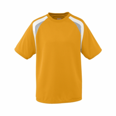 Augusta Sportswear Men's Jersey: 100% Polyester Wicking Mesh Tri-Color Raglan (AG875)