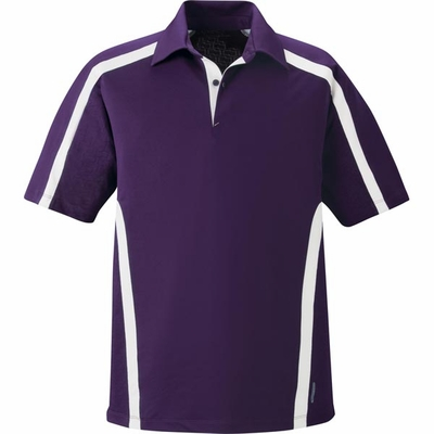 North End Men's Polo Shirt: Moisture Wicking Performance w/ Contrast Inserts (88667)