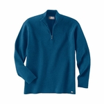 Il Migliore Men's Sweater: Cotton Blend Half-Zip Mock Neck (81008)