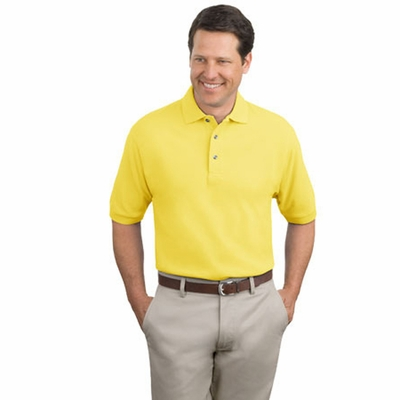Port Authority Men's Polo Shirt: 100% Cotton Pique Knit (K420)
