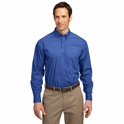 Port Authority Men's Dress Shirt: Long Sleeve Easy Care Soil Resistant Woven (S607)