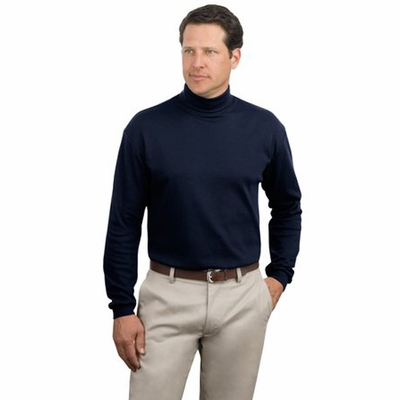 Port Authority Men's Turtleneck: 100% Cotton Interlock Knit (K322)