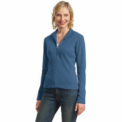 Port Authority Women's Jacket: Flatback Rib Full-Zip (L221)