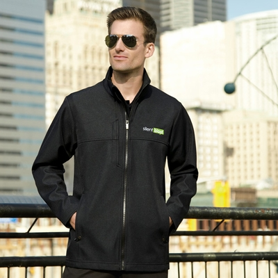North End Men's Jacket: Textured 3-Layer Bonded Fleece Water Resistant Soft Shell (88171)