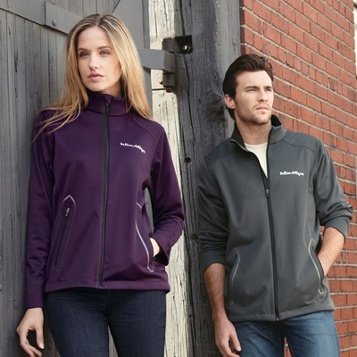 North End Men's Jacket: Modern Designed 3-Layer Lightweight Bonded Soft Shell (88655)