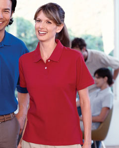 Harriton Women's Polo Shirt: 100% Cotton Pique Short-Sleeve (M100W)