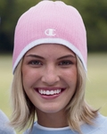 Champion Women's Beanie: Striped Knit Cap (C6183)