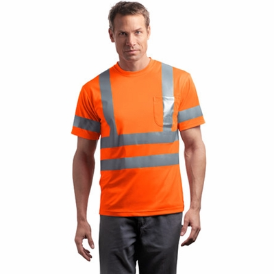 CornerStone Men's T-Shirt: ANSI Class 3 Short Sleeve Snag-Resistant Reflective (CS408)