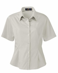 Ash City Women's Twill Shirt: Short Sleeve Cotton Blend (77010)