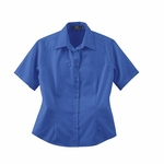 Ash City Women's Twill Shirt: Short Sleeve Cotton Blend With Teflon (77013)