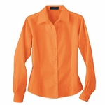 Ash City Women's Twill Shirt: Long Sleeve Cotton Blend With Teflon (77014)
