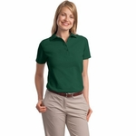 Stedman by Hanes Women's Polo Shirt: 100% Cotton Pique (035)