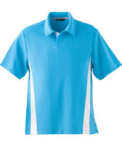 Ash City Men's Polo Shirt: Polyester Pique With Stripe (88616)