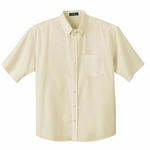 Ash City Men's Twill Shirt: Short Sleeve Cotton Blend With Teflon (87023)