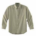 Ash City Men's Twill Shirt: Long Sleeve Cotton Blend With Teflon (87024)