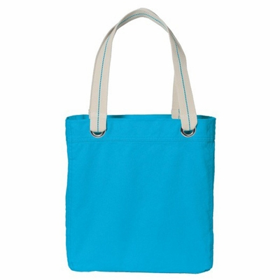 Port Authority Tote Bag: 100% Cotton Allie Contrast Lining (B118)