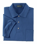 Ash City Men's Polo Shirt: 100% Cotton Pique With Pocket (225441)
