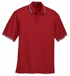Ash City Men's Polo Shirt: 100% Cotton Double Striped Collar Pique (225502)
