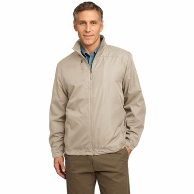 Port Authority Men's Wind Jacket: Pocketed Full-Zip (J707)