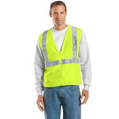 "Port Authority Men's Safety Vest: 2"" Reflective Taping (SV01)"