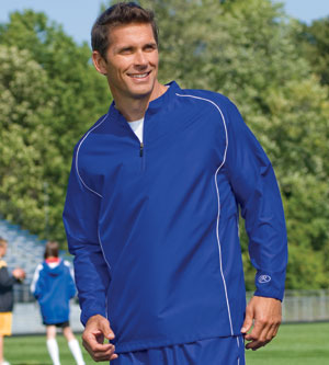Rawlings Men's Jacket: 1/4 Zip Dobby With Piping (RP9715)