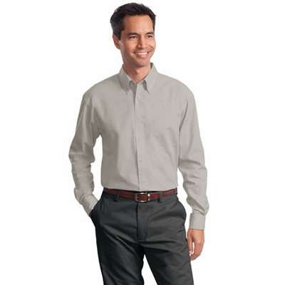 Port Authority Men's Poplin Shirt: Long Sleeve Value (S632)