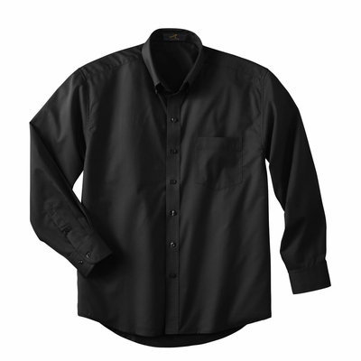 Ash City Men's Twill Shirt: Easy Care Long Sleeve Tall with UV Protection (87015T)