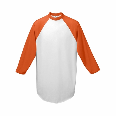 Augusta Sportswear Men's Baseball Jersey: 50/50 Cotton Blend Contrast Raglan 3/4 Sleeves (420)