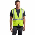 CornerStone Men's Safety Vest: ANSI Class 2 Mesh Back (CSV405)
