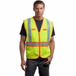 CornerStone Men's Safety Vest: ANSI Class 2 Dual-Color (CSV407)