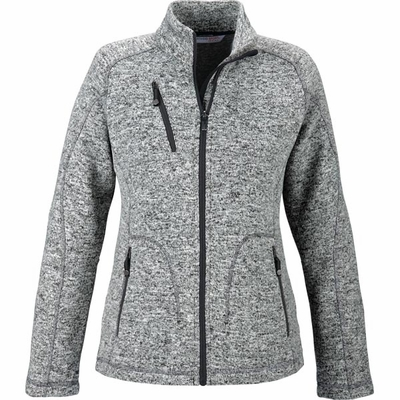 North End Women's Jacket: Full-Zip Sweater Fleece w/ Detailed Stitching (78669)