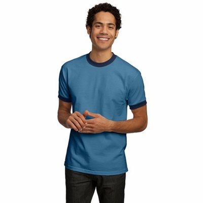 Port & Company Men's T-Shirt: 100% Cotton Ringer (PC61R)