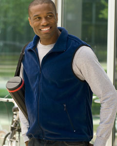 Harriton Men's Vest: 8 oz. Fleece (M985)
