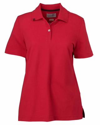 Ashworth Women's Polo Shirt: 100% Cotton EZ-Tech Pique (1148)