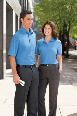 Ashworth Men's Polo Shirt: 100% Polyester Performance Wicking Pique (1270C)