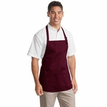 Port Authority Apron: 100% Cotton Medium Length Pouch Pockets (A510)