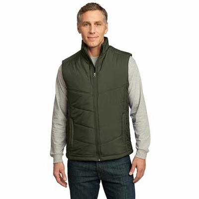 Port Authority Men's Vest: Puffy Pocketed Full-Zip (J709)