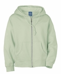 Ash City Women's Sweatshirt: 100% Cotton Fleece Hooded Full-Zip (121210)