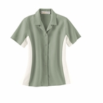 Il Migliore Women's Camp Shirt: Knit Ottoman Color-Block (77016)