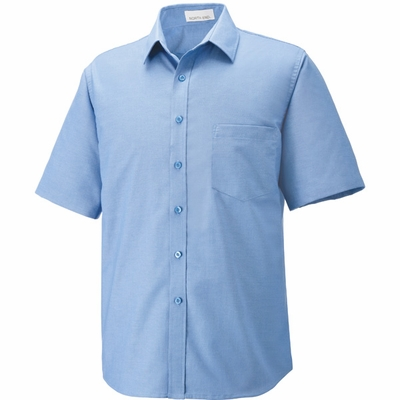 North End Men's Oxford Shirt: Short Sleeve Wrinkle Resistant Easy Care (87039)