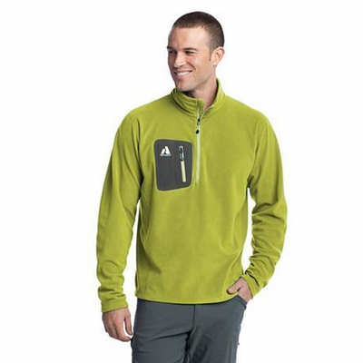 First Ascent Men's Jacket: 1/4 Zip Lightweight Fleece Pullover (FA700)