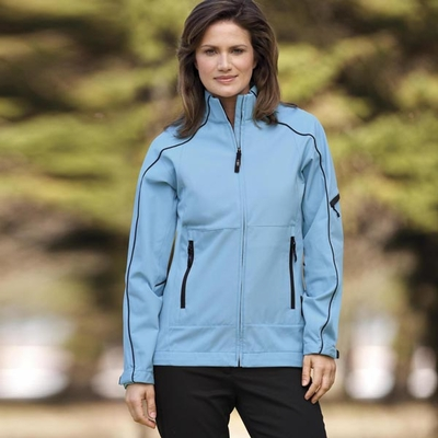 North End Women's Jacket: 3-Layer Mid-Length Full-Zip Soft Shell (78047)