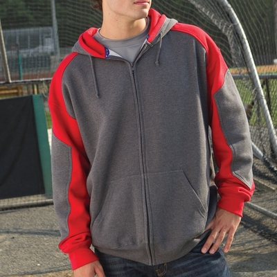 Proline Men's Sweatshirt: Full-Zip Two-Tone Hoodie (2112)