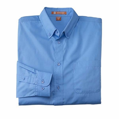 Harriton Men's Poplin Shirt: (M510)