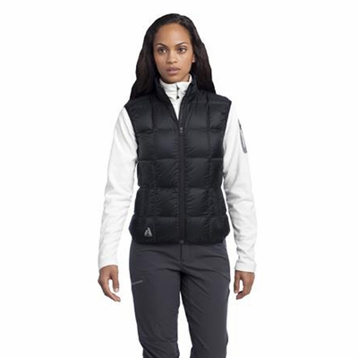 First Ascent Women's Vest: Lightweight Slim Fit Goose Down Full-Zip (FA803)